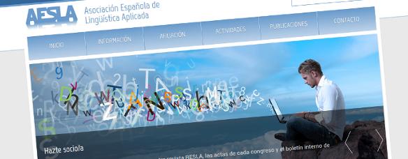 Nova Página Web de AESLA - Asociación Española de Lingüística Aplicada