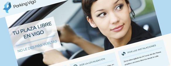 Deseño web Parking Vigo (captura)