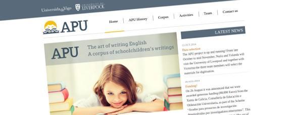 Páxina web e identidade visual para o proxecto APU da Universidade de Vigo