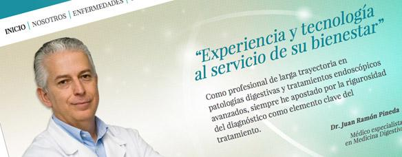 Novo sitio web corporativo do Dr. Pineda