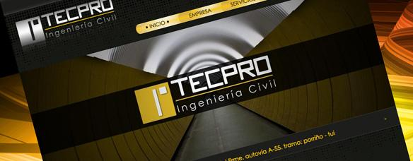 Página web corporativa de Tecpro Ingeniería Civil