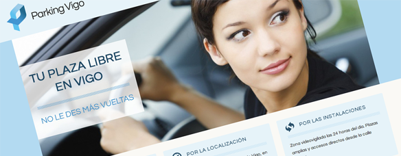 Diseño web Parking Vigo (captura)