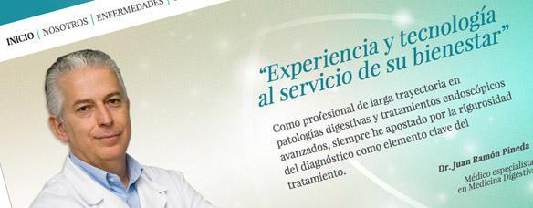 Sitio web corporativo del Dr. Pineda